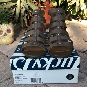 Lucky brand leather gladiator sandals shoes 8 1/2